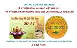 Thông báo mời tham dự Lễ kỷ niệm ngày Nhà giáo VN 20-11 và KN 20 năm Trường Tiếng Việt Lạc Long Quân tại Ba Lan