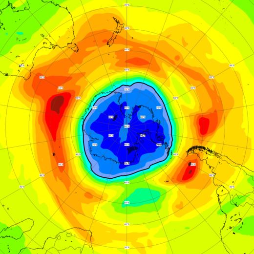Lỗ thủng tầng ôzôn phía trên Nam Cực đã lớn hơn Nam Cực
