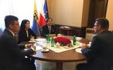 Đại sứ Việt Nam tại Ba Lan Vũ Đăng Dũng làm việc với lãnh đạo Tỉnh Slaskie và Thành phố Katowice