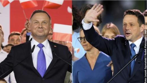 Exit Poll: Duda 50.4%, Trzaskowski 49.6% kết quả vẫn chưa phân thắng bại.