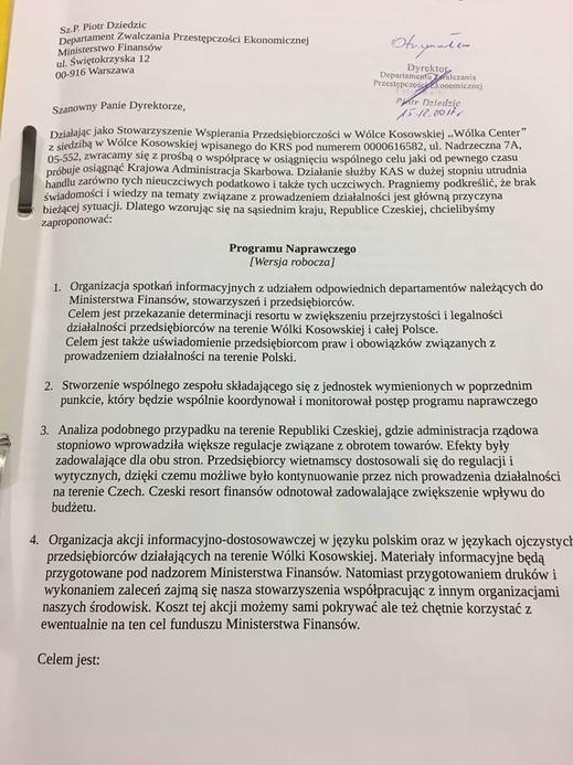 Thêm một Hiệp hội ra tay hỗ trợ doanh nghiệp vùngWólka Kosowska