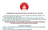 CLB Hà Thành tại Vac Sa Va - Ba Lan: Thông báo chương trình kỷ niệm 64 năm ngày giải phóng Thủ Đô