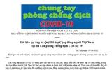 Lời kêu gọi ủng hộ Quỹ Hỗ trợ Cộng đồng người Việt Nam tại Ba Lan phòng chống dịch COVID-19
