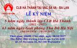 Thư mời tham dự Lễ kỷ niệm 5 năm CLB Hà Thành Vác sa va - Ba Lan và 63 năm ngày Giải phóng Thủ đô Hà Nội