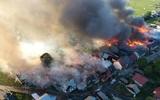 Hỏa hoạn lớn ở Nowa Biała