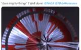 Một thông điệp tuyệt đẹp đã được mã hóa trên chiếc dù thả xe tự hành Perseverance lên sao Hỏa