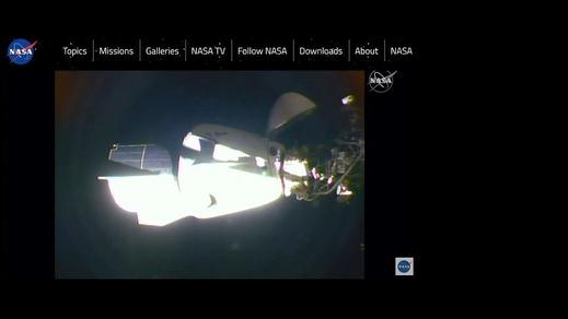 Con tàu Dragon đã kết nối với Trạm không gian quốc tế ISS