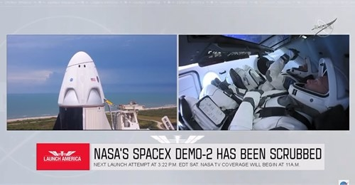 Chuyến bay của phi hành đoàn tàu vũ trụ Dragon bị hoãn do thời tiết xấu