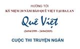 Thông báo Cuộc thi truyện ngắn Báo Quê Việt